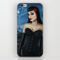 selena gomez iPhone & iPod Skins featuring Selena by Remus Brailoiu