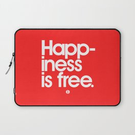 Happiness Is Free Laptop Sleeve