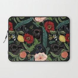 Botanical and Black Pugs Laptop Sleeve