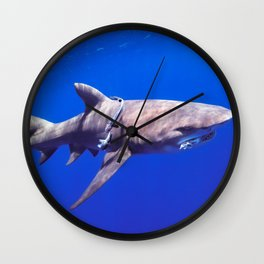 Fish Are Friends, Not Food Wall Clock