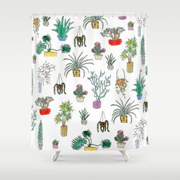 Houseplants Shower Curtain