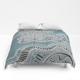 Just a Squiggle Here and There Comforters