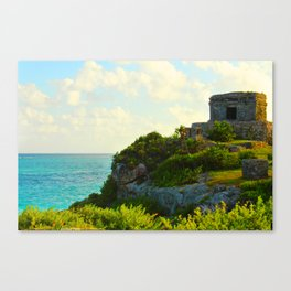 Temple of the Wind God in the Yucatan Canvas Print
