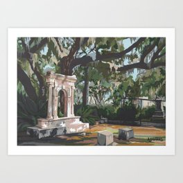 Bonaventure Cemetery Art Print
