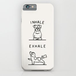 Inhale Exhale Jack Russell Terrier iPhone Case