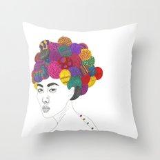 Fashion Illustration 3  Throw Pillow