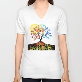 Spiritual Art - Tree Of Life Unisex V-Neck