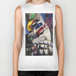 Totem Poles in the Pacific Northwest Biker Tank