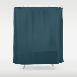 Regal Dark Turquoise, Blue Green, Gray Solid Color Pairs To Sherwin Williams Rainstorm SW 6230 Shower Curtain