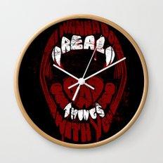 Real Bad Things Wall Clock