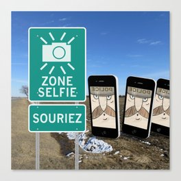 Zone Selfie - Souriez Canvas Print