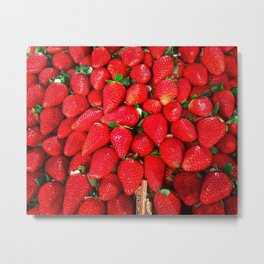 Strawberries Galore Metal Print