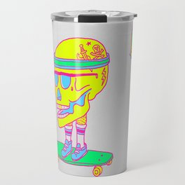 Skull on a skateboard Travel Mug