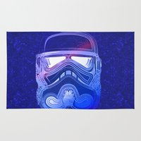 trooper Area & Throw Rugs featuring Pop Trooper by Scar Design