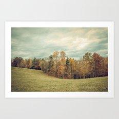 Autumn Landscape -- Blue Ridge Highlands Forest Art Print