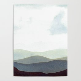 Mountains Storm Poster