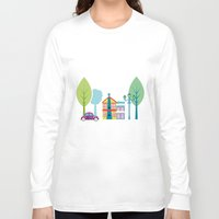 ski Long Sleeve T-shirts featuring Ski house by Polkip