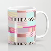 tape Mugs featuring Decorative Tape by Louise Machado
