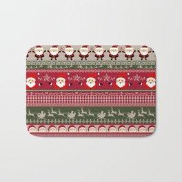 Santa Claus Ugly Sweater Bath Mat