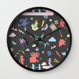Myths // traditions pattern Wall Clock
