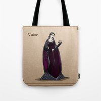 valar morghulis Tote Bags featuring Vaire by wolfanita