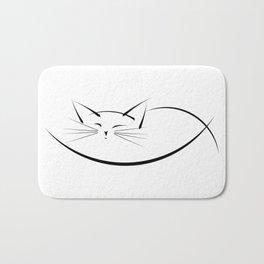 Cat Line Bath Mat