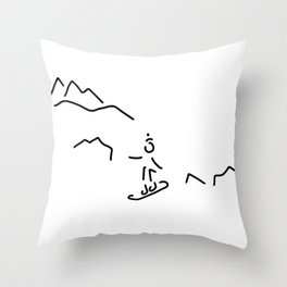 snowboarder skiing winter sports Throw Pillow