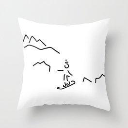snowboarder skiing winter sports Throw Pillow