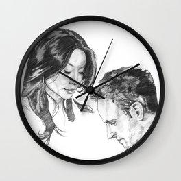 Joan and Sherlock Wall Clock