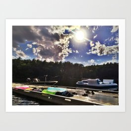 Perfect Summer Day on Lake Pemaquid, Maine Art Print