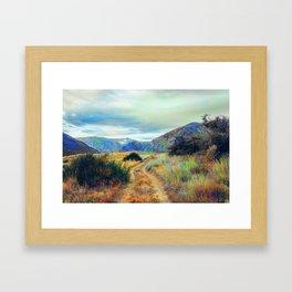 Fall nature landscape photography Framed Art Print