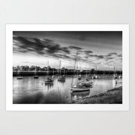 Monochrome Sunset Art Print