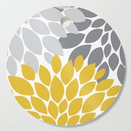 petals grey and yellow Cutting Board