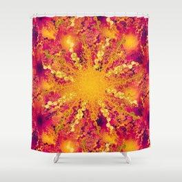 Summer Heat golden sun Shower Curtain