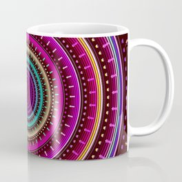 Colorful patterns and textured mandala Coffee Mug