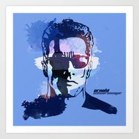 terminator Art Prints featuring Terminator by BIG Colours