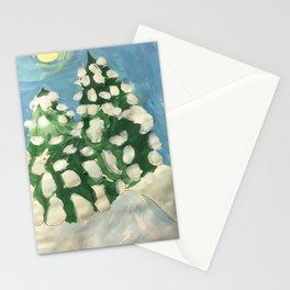 Midday Snowy Pines Stationery Cards