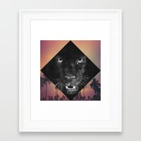 panther Framed Art Prints featuring Panther by Jamie Mitchell