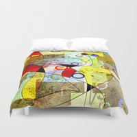 kandinsky Duvet Covers featuring Without incident by Kay Weber