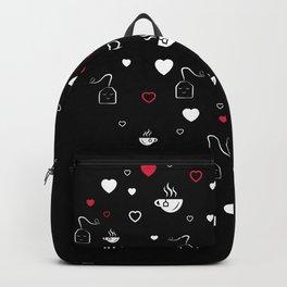 Tea Valentines Day Heart Tealover Gift Backpack