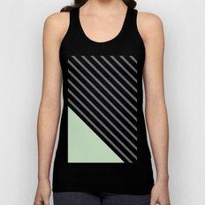 Diagonal Block - Mint Unisex Tank Top
