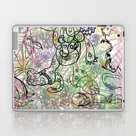 Anymanimals+Whatlifethrowsatyou    Nonrandom-art1 Laptop & iPad Skin