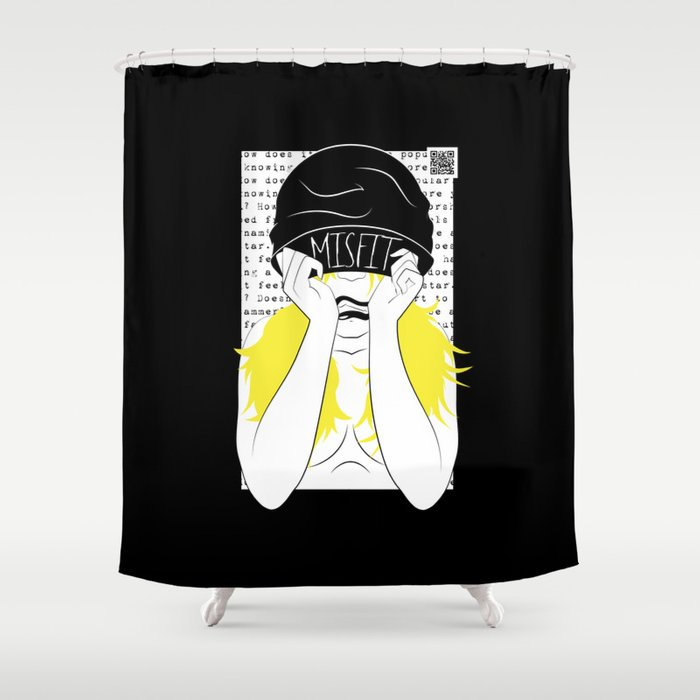 Misfit Shower Curtain By Lilahr