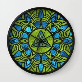 Metallic Foil Celtic Trinity Knot Triquetra Wall Clock