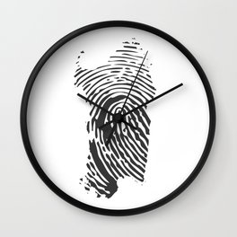 Sardinian fingerprint Wall Clock