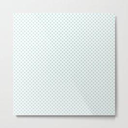 Moonlight Jade Polka Dots Metal Print