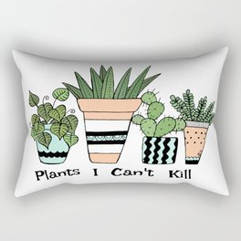 Plants I Can't Kill Funny Illustration Rectangular Pillow