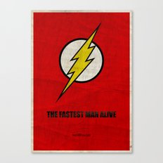 Flash (Super Minimalist series) Canvas Print