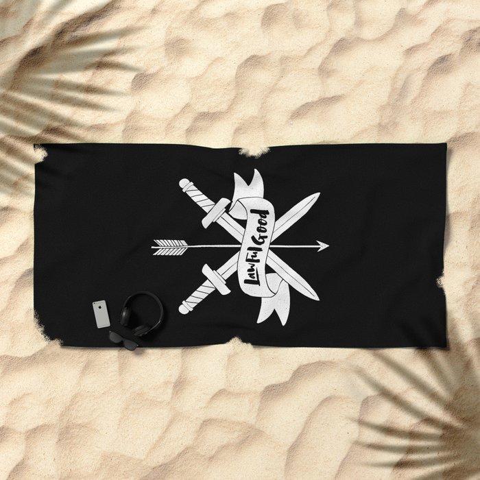 LAWFUL GOOD Beach Towel