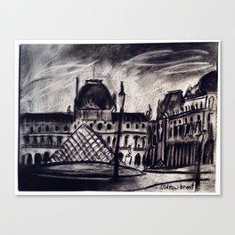 Lourve Pyramid Canvas Print